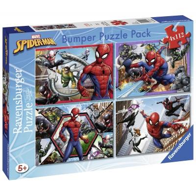 Ravensburger-06993 Bumper Pack 4 Puzzles - Spider-Man