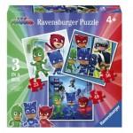Ravensburger-06998 3 Puzzles - PJMasks