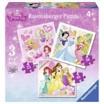 Ravensburger-07008 3 Puzzles - Disney Princess