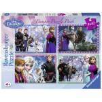 Ravensburger-07025 4 Puzzles - Frozen - Die Eiskönigin