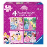 Ravensburger-07132 4 Puzzles - Disney Princess