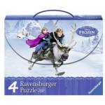 Ravensburger-07300 4 Puzzles - Frozen - Die Eiskönigin
