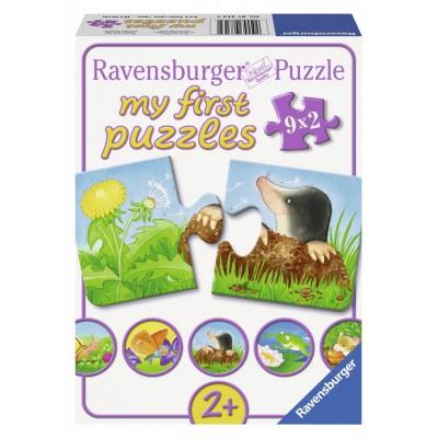 Puzzle  Ravensburger-07313 Tiere im Garten