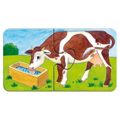 Ravensburger-07333 9 x 2 Teile Puzzleset - Auf dem Bauernhof