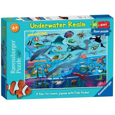Ravensburger-07347 Riesen-Bodenpuzzle - Unterwasserwelt
