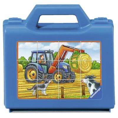 Ravensburger-07432 Würfelpuzzles - Fahrzeuge Auf Bauernhof