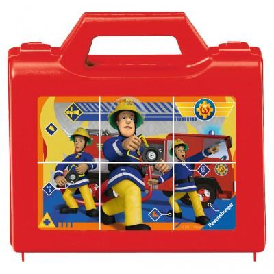 Ravensburger-07437 Würfelpuzzle - Fireman Sam