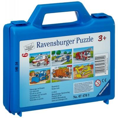 Ravensburger-07470 Würfelpuzzle - Fahrzeuge im Einsatz