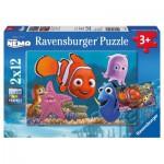 Ravensburger-07556 2 Puzzles - Nemo
