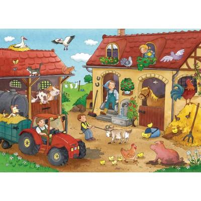 Ravensburger-07560 2 Puzzles - Handwerke der Farm