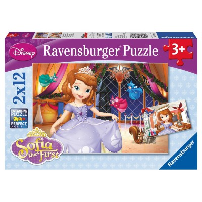 Ravensburger-07570 2 Puzzles - Disney Sofia the First