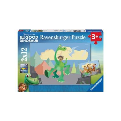 Ravensburger-07595 2 Puzzles - Arlo und Spot
