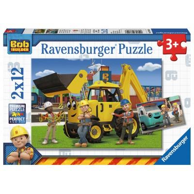 Ravensburger-07604 2 Puzzles - Bob und sein Team