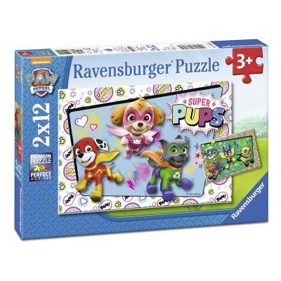 Ravensburger-07613 2 Puzzles - Paw Patrol