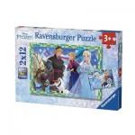 Ravensburger-07621 2 Puzzles - Frozen