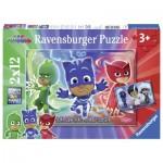 Ravensburger-07622 2 Puzzles - PJ Masks