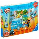 Ravensburger-07623 2 Puzzles - Helden der Stadt