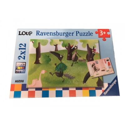 Ravensburger-07627 2 Puzzles - Loup