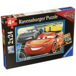 Ravensburger-07808 2 Puzzles - Cars 3