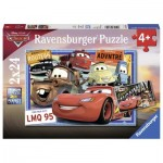 Ravensburger-07819 2 Puzzles - Cars