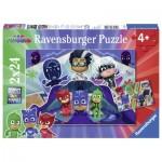 Ravensburger-07824 2 Puzzles - PJ Masks