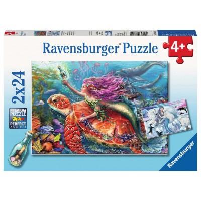 Ravensburger-07834 2 Puzzles - Die Abenteuer der Sirenen