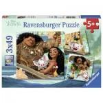 Ravensburger-08004 3 Puzzles - Vaiana