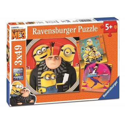 Ravensburger-08016 3 Puzzles - Minions