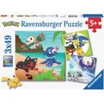 Ravensburger-08019 3 Puzzles - Pokemon