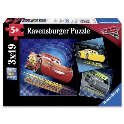 Ravensburger-08026 3 Puzzles - Cars 3