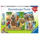Ravensburger-08030 3 Puzzles - Abenteuer auf hoher See