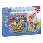 Ravensburger-08036 3 Puzzles - Paw Patrol
