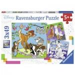 Ravensburger-08043 3 Puzzles - Walt Disney