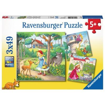 Ravensburger-08051 3 Puzzles - Geschichten und Legenden