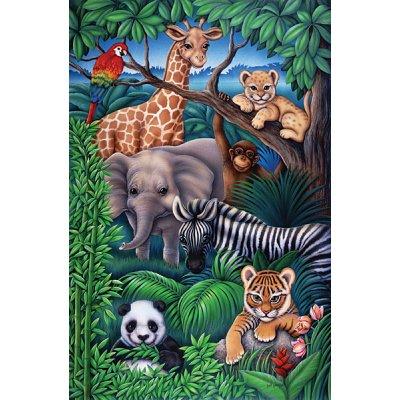 Puzzle  Ravensburger-08601 Tiere aus dem Dschungel