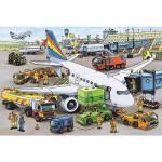 Puzzle  Ravensburger-08603 Geschäftiger Flughafen
