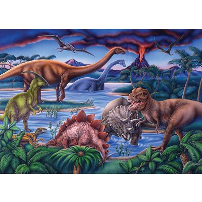 Puzzle  Ravensburger-08613 Dinosaurier