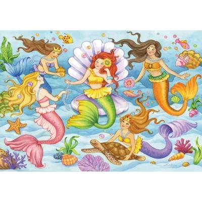 Puzzle  Ravensburger-08684 Meerjungfrauen