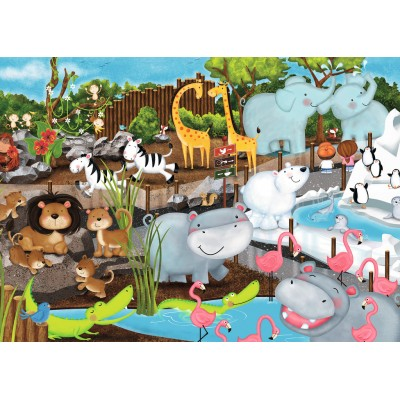 Puzzle Ravensburger-08778 Tag im Zoo