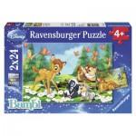 Ravensburger-08852 2 Puzzles - Bambi
