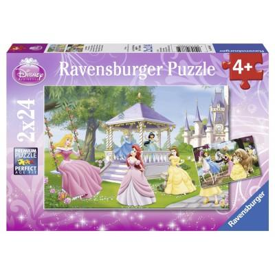 Ravensburger-08865 2 Puzzles - Magische Prinzessinnen