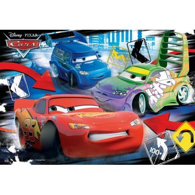 Ravensburger-08870 2 Puzzles - Cars