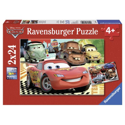 Ravensburger-08959 2 Puzzles - Cars