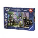 Ravensburger-09016 2 Puzzles - Playmobil
