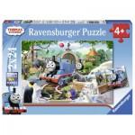 Ravensburger-09043 2 Puzzles - Thomas die Lokomotive