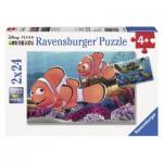 Ravensburger-09044 2 Puzzles - Findet Nemo