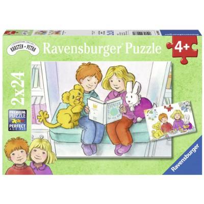Ravensburger-09066 2 Puzzles - Karsten und Petra