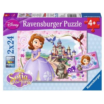 Puzzle  Ravensburger-09086 Sofias königliche Abenteuer