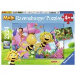 Ravensburger-09093 2 Puzzles - Biene Maja