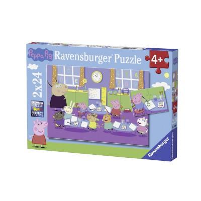 Ravensburger-09099 2 Puzzles - Peppa Pig